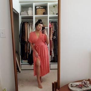 NWT Urban Outfitters Midi Wrap Dress